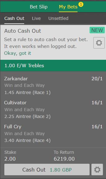 each way treble betting slip