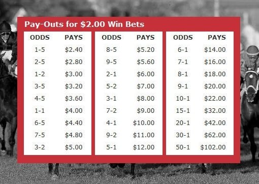 betting odds payout