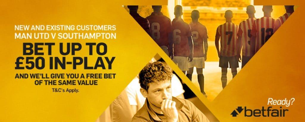 Free In-Play bet Bonuses at Betfair