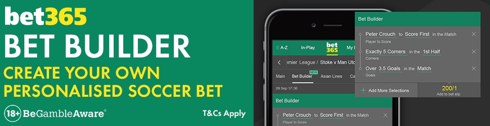 Bet365 Bet Builder Feature allows punters to combine selections of their choice