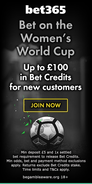 Bet365 Womens World Cup betting